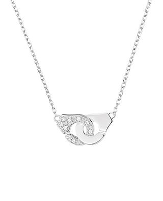 Collier Menottes R8 en or blanc et diamants DINH VAN