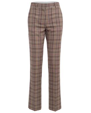 Pantalon en laine vierge à carreaux VICTORIA BECKHAM