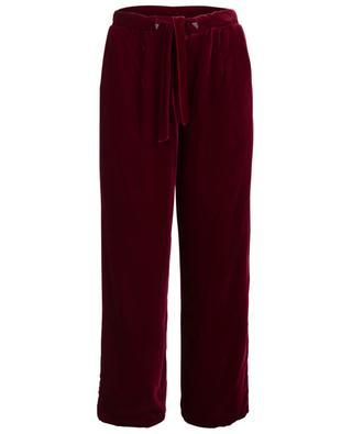 Pantalon pyjama en velours et soie Eos EZGI CINAR
