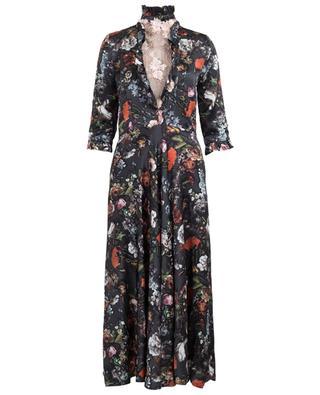 Morpheus long printed silk dress EZGI CINAR