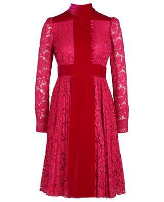 Midi lace and velvet dress VALENTINO