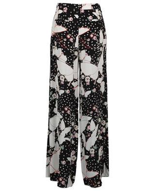 Pantalon en soie fleurie VALENTINO