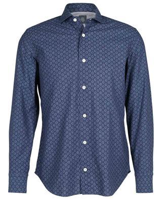 Hemd aus leichtem Baumwolltuch mit Print ELEVENTY