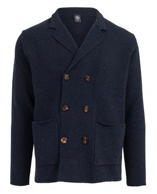Merino wool cardigan with lapel ELEVENTY