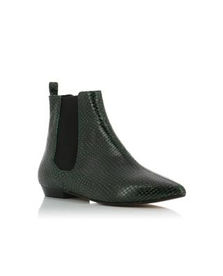 Bottines en cuir effet python Reckler ISABEL MARANT