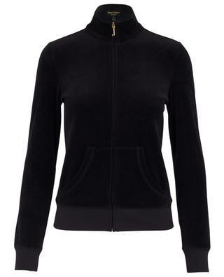 Sweat-shirt zippé en velours Fairfax JUICY COUTURE