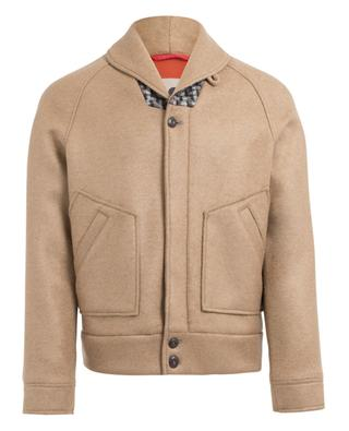 Viscose and wool blend jacket DUE SOLI