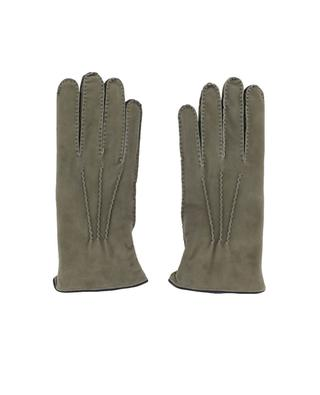 Fur lined suede gloves PIERO RESTELLI