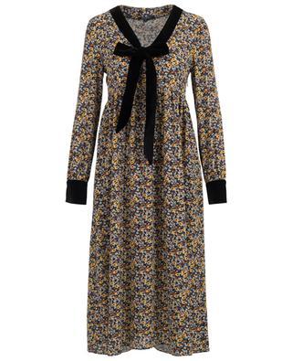 Bedrucktes, midilanges Kleid Garçonne TOUPY