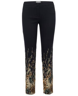 Fleur cotton blend slim-fit trousers SEDUCTIVE