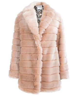 Mid-length faux fur jacket FAKE FUR