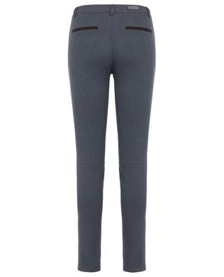 Slim fit cotton blend trousers PAMELA HENSON