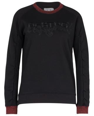 Weites besticktes Sweatshirt DESTROY ZOE KARSSEN