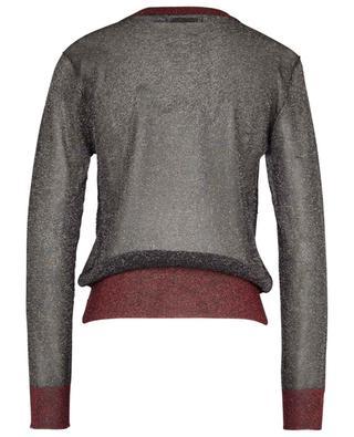 Transparenter kurzer Pullover aus zweifarbigem Lurex ZOE KARSSEN