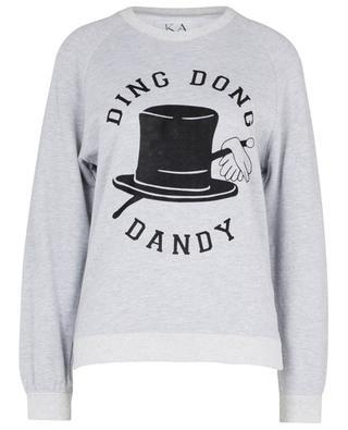 Ding Gong Dandy hat flock printed 'balloon fit' sweatshirt ZOE KARSSEN