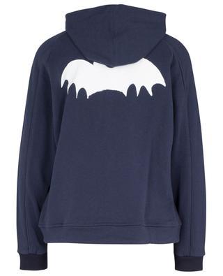 Bat printed 'balloon fit' hooded sweat jacket ZOE KARSSEN