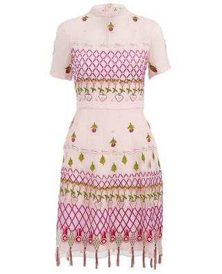 Kurzes Kleid aus bestickter Viskose Horizon TEMPERLEY LONDON