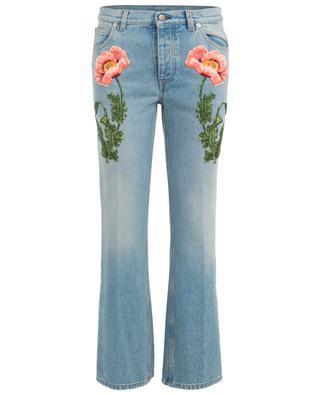 Jeans mit Blütenstickerei GUCCI