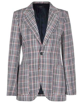 Oversize-Blazer aus Baumwolle Albert Elton Check JOSEPH