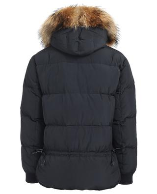 Fur adorned hooded down jacket DSQUARED2