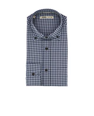 Chemise à carreaux en coton MAURIZIO BALDASSARI