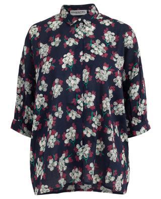 Hemd mit Blumenprint aus Baumwolle Okes ESSENTIEL