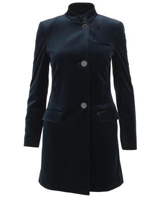 Straight velvet coat PIAZZA SEMPIONE