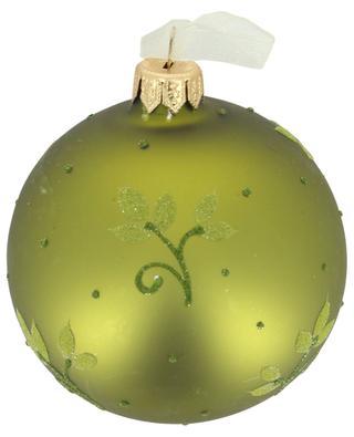 Green floral christmas bauble KAEMINGK