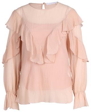 Bluse aus Voile in Crinkle-Optik mit Rüschen SEE BY CHLOE