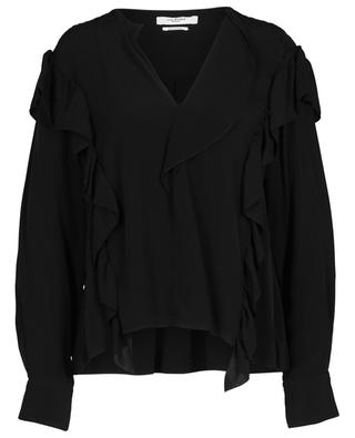 Welby cupro top with ruffles ISABEL MARANT