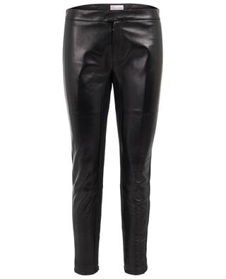 Leather and stretch fabric trousers RED VALENTINO
