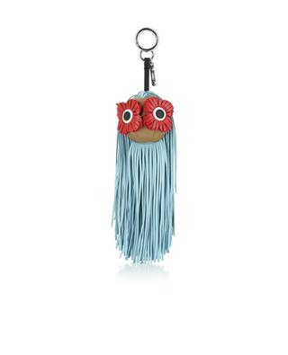 Fringe-eyes leather charm FENDI