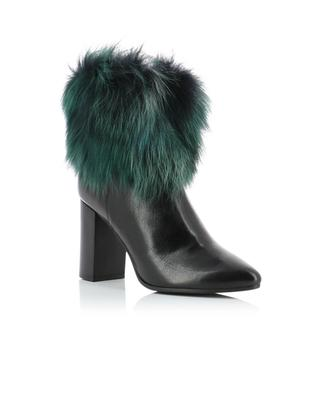 Leather and fur ankle boots BONGENIE GRIEDER