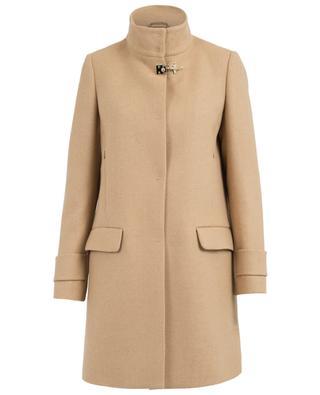 Manteau droit en laine mélangé FAY