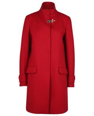 Straight wool blend coat FAY