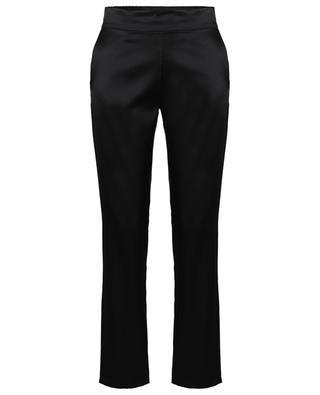 Pantalon slim en satin de soie stretch Helen MAISON DE PAPILLON