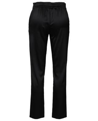 Helen silk satin stretch slim fit trousers MAISON DE PAPILLON