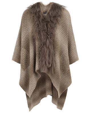 Poncho en laine mélangé avec fourrure GRAHAM&MARSHALL