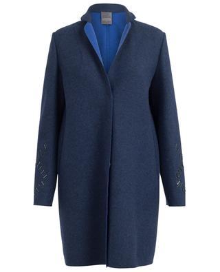 Manteau droit en laine vierge et cachemire LORENA ANTONIAZZI