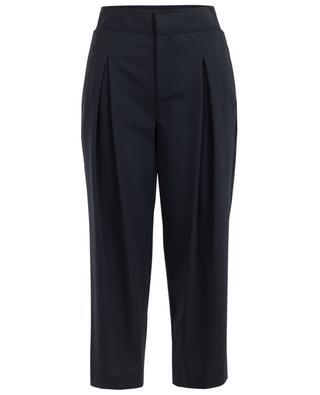 Virgin wool blend wide leg trousers LORENA ANTONIAZZI