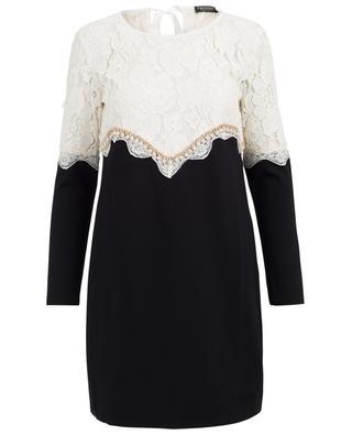 Viscose blend and guipure tunic dress TWINSET