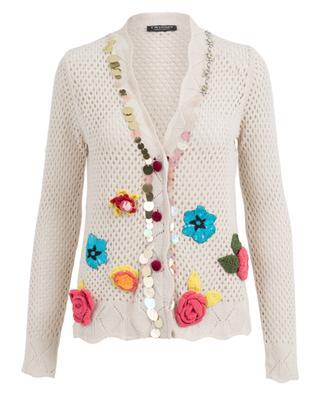 Cardigan en viscose, coton, laine et cachemire TWINSET