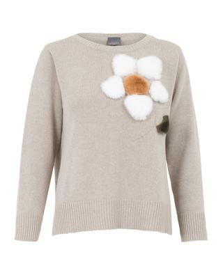 Virgin wool jumper with fur LORENA ANTONIAZZI