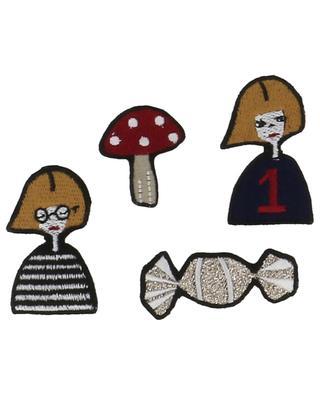 Set of four Rykiel badges SONIA RYKIEL