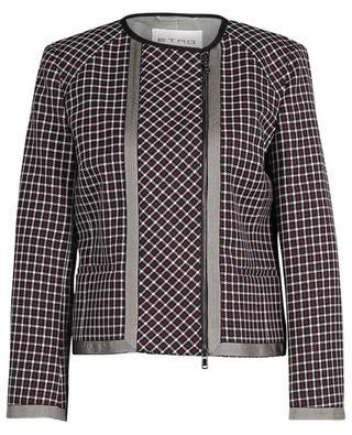 Checked short straigh blazer in wool ETRO