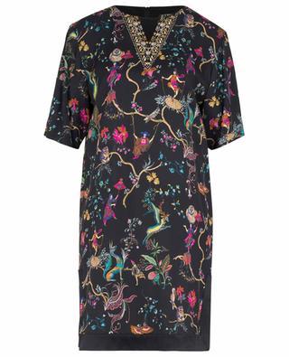 Fancy print adorned twill mini dress ETRO