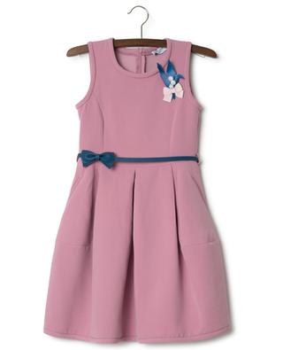 Sleeveless neoprene dress MONNALISA