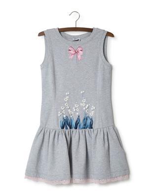 Embroidered cotton blend dress MONNALISA