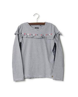 T-shirt à manches longues en coton mélangé IKKS JUNIOR