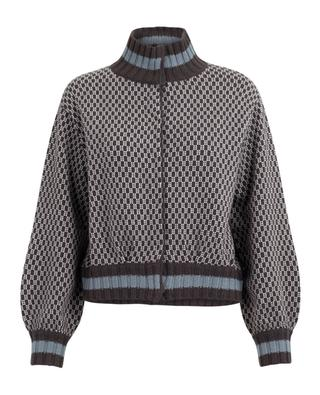Cardigan en laine et cachemire jacquard HEMISPHERE